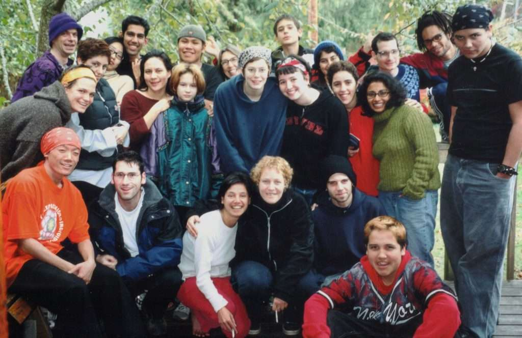 group photo of team for Peer Perspectives 2000